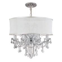 Crystorama 4489-CH-SMW-CLM Brentwood 12 Light Smooth Shade Chrome Chandelier