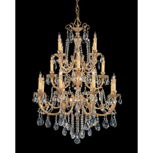 Crystorama 480-OB-CL-MWP Crystal Etta 16 Light Clear Hand Cut Crystal Chandelier