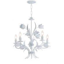 Crystorama 4815-WW Southport 5 Light Wet White Chandelier
