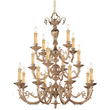 Crystorama 490-OB Crystal Etta 16 Light Olde Brass Chandelier