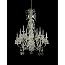 Crystorama 5020-PB-CL-MWP Crystal 10 Light Clear Crystal Brass Chandelier