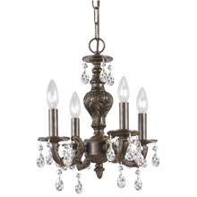 Crystorama 5024-VB-CL-MWP Paris Market 4 Light Clear Crystal Bronze Mini Chandelier