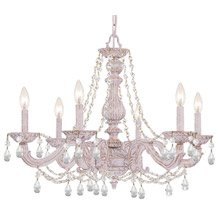 Crystorama 5026-AW-CL-MWP Paris Market 6 Light Clear Crystal White Chandelier