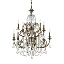 Crystorama 5119-EB-CL-MWP Crystal Regis 12 Light Clear Crystal Bronze Chandelier