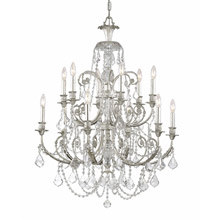 Crystorama 5119-OS-CL-MWP Crystal Regis 12 Light Clear Crystal Silver Chandelier