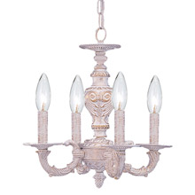 Crystorama 5124-AW Paris Market 4 Light Antique White Mini Chandelier