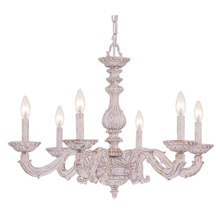 Crystorama 5126-AW Paris Market 6 Light Antique White Chandelier