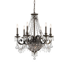 Crystorama 5166-EB-CL-MWP Vanderbilt 9 Light Bronze Chandelier