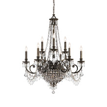 Crystorama 5168-EB-CL-MWP Vanderbilt 12 Light Bronze Chandelier
