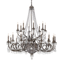 Crystorama 5170-EB-CL-MWP Vanderbilt 29 Light Bronze Chandelier