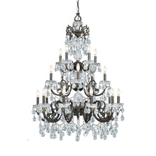 Crystorama 5190-EB-CL-MWP Crystal Legacy 20 Light Clear Crystal Bronze Chandelier