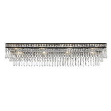 Crystorama 5267-EB-CL-MWP Crystal Mercer 8 Light Hand Cut Crystal Bronze Vanity Light