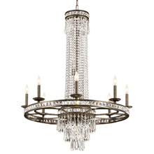 Crystorama 5268-EB-CL-MWP Crystal Mercer 11 Light Crystal Bronze Chandelier
