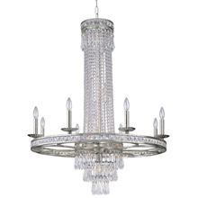 Crystorama 5268-OS-CL-MWP Crystal Mercer 11 Light Crystal Silver Chandelier