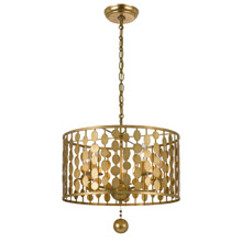 Crystorama 545-GA Layla 5 Light Antique Gold Chandelier