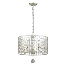 Crystorama 545-SA Layla 5 Light Antique Silver Chandelier