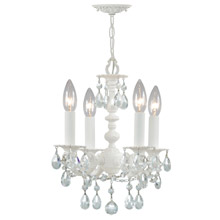 Crystorama 5514-WW-CL-MWP Paris Market 4 Light Wet White Mini Chandelier
