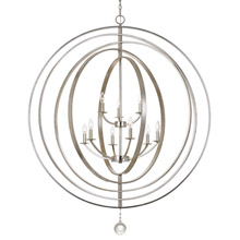 Crystorama 587-SA Luna 9 Light Antique Silver Chandelier