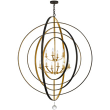Crystorama 590-EB-GA Luna 12 Light Bronze & Gold Chandelier