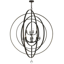 Crystorama 590-EB Luna 12 Light English Bronze Chandelier