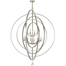 Crystorama 590-SA Luna 12 Light Antique Silver Sphere Chandelier