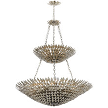Crystorama 599-SA Broche 18 Light Antique Silver Leaf Pendant Chandelier