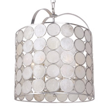 Crystorama 6007-SA Coco 6 Light Antique Silver Lantern