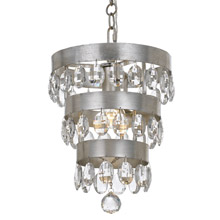 Crystorama 6103-SA Perla 1 Light Antique Silver Mini Chandelier