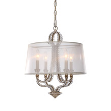 Crystorama 6764-DT Garland 4 Light Distressed Twilight Crystal Bead Mini Chandelier