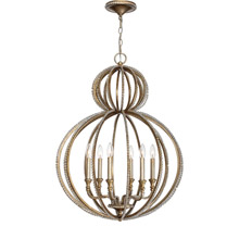 Crystorama 6766-DT Garland 6 Light Distressed Twilight Crystal Beads Chandelier