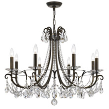 Crystorama 6828-EB-CL-MWP Othello 8 Light Clear Crystal English Bronze Chandelier