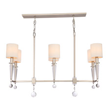 Crystorama 8106-PN Paxton 6 Light Polished Nickel Chandelier