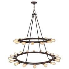 Crystorama 9049-CZ Dakota 33 Light Bronze Chandelier