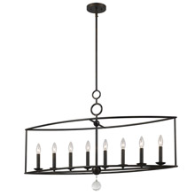 Crystorama 9168-EB Cameron 8 Light English Bronze Linear Chandelier