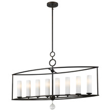 Crystorama 9268-EB Cameron 8 Light English Bronze Linear Chandelier