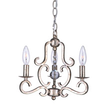Crystorama 9347-OS Orleans 3 Light Olde Silver Mini Chandelier