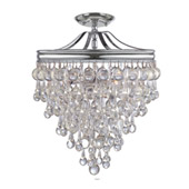 Transitional Calypso 3 Light Chrome Semi-Flush - Crystorama 130-CH_CEILING