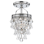 Transitional Calypso 1 Light Chrome Semi-Flush - Crystorama 131-CH_CEILING