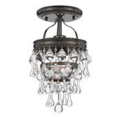 Transitional Calypso 1 Light Bronze Semi-Flush - Crystorama 131-VZ_CEILING