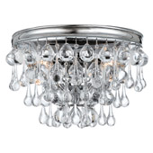 Transitional Calypso 2 Light Chrome Sconce - Crystorama 132-CH