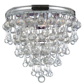 Transitional Calypso 3 Light Chrome Flush Mount - Crystorama 135-CH