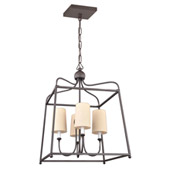 Libby Langdon for Crystorama Sylvan 4 Light Dark Bronze Chandelier - 2244-DB