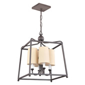Libby Langdon for Crystorama Sylvan 4 Light Dark Bronze Chandelier - 2245-DB