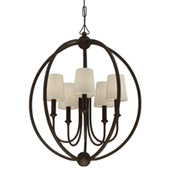 Libby Langdon for Crystorama Sylvan 5 Light Dark Bronze Chandelier - 2247-DB