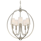 Libby Langdon for Crystorama Sylvan 5 Light Polished Nickel Chandelier - 2247-PN