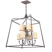 Libby Langdon for Crystorama Sylvan 8 Light Dark Bronze Chandelier - 2248-DB