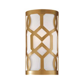 Libby Langdon for Crystorama Jennings 1 Light Aged Brass Sconce - 2262-AG