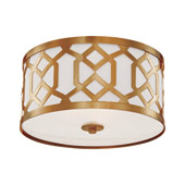 Libby Langdon for Crystorama Jennings 3 Light Aged Brass Ceiling Mount - 2263-AG