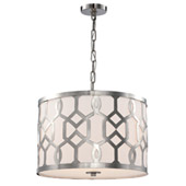 Libby Langdon for Crystorama Jennings 3 Light Polished Nickel Chandelier - 2265-PN