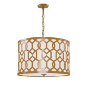 Libby Langdon for Crystorama Jennings 5 Light Aged Brass Chandelier - 2266-AG
